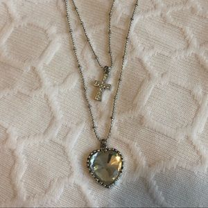 *NWT Betsey Johnson Heart and Cross Necklace